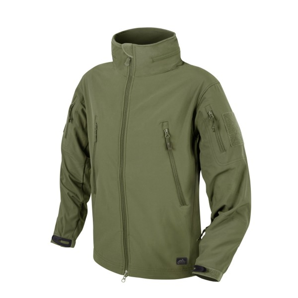Helikon Tex GUNFIGHTER Jacket - Shark Skin Windblocker - Olive Green