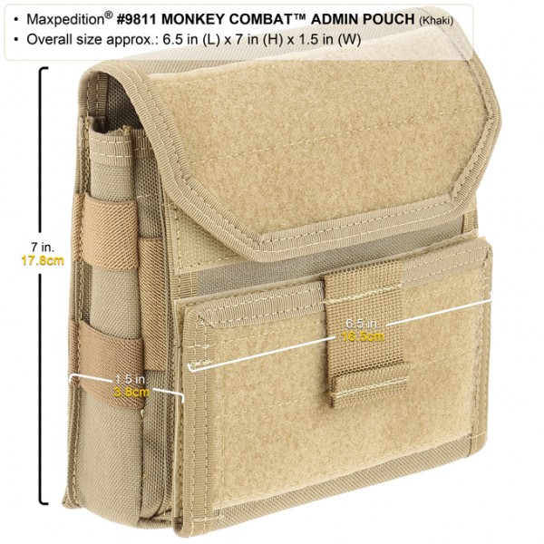 Maxpedition Monkey Combat Admin Pouch (Khaki)