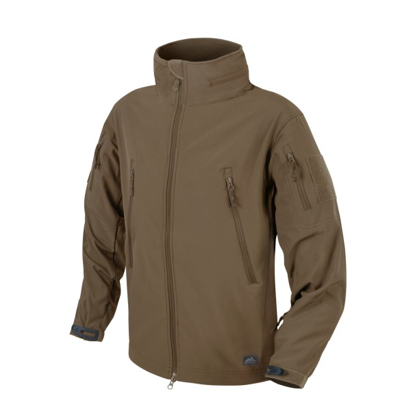 Helikon Tex GUNFIGHTER Jacket - Shark Skin Windblocker - Mud Brown