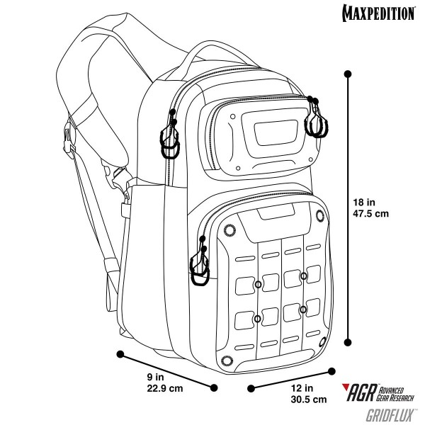 Maxpedition GRIDFLUX™ Sling Pack (Gray)