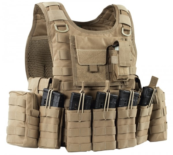 Warrior RICAS Compact DA M4 Plate Carrier Coyote