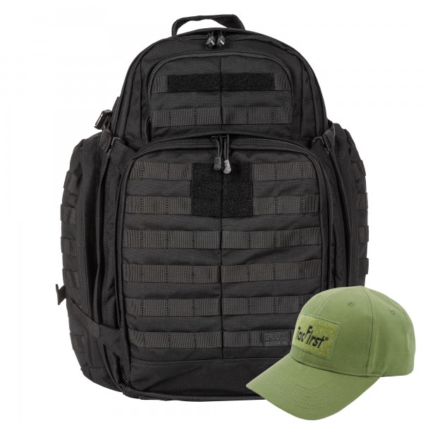 Komplettpaket 5.11 RUSH 72 BACKPACK mit TacFirst Twill Cap